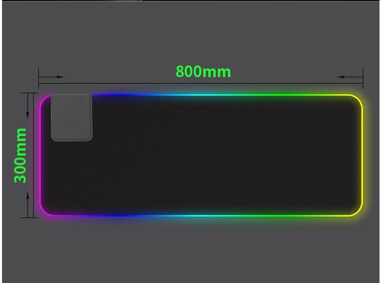Tapis de Souris Gamer Lumineux Mouse Pad LED Rétro-Eclairage xxl