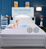 one hundred percent Polyester Waterproof Mattress Cover Hypoallergenic Vinyl Free