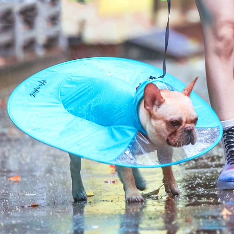 Transparent Dog Raincoat   Hooded Waterproof Raincoat For Dogs