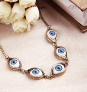 Angel devil eye short necklace
