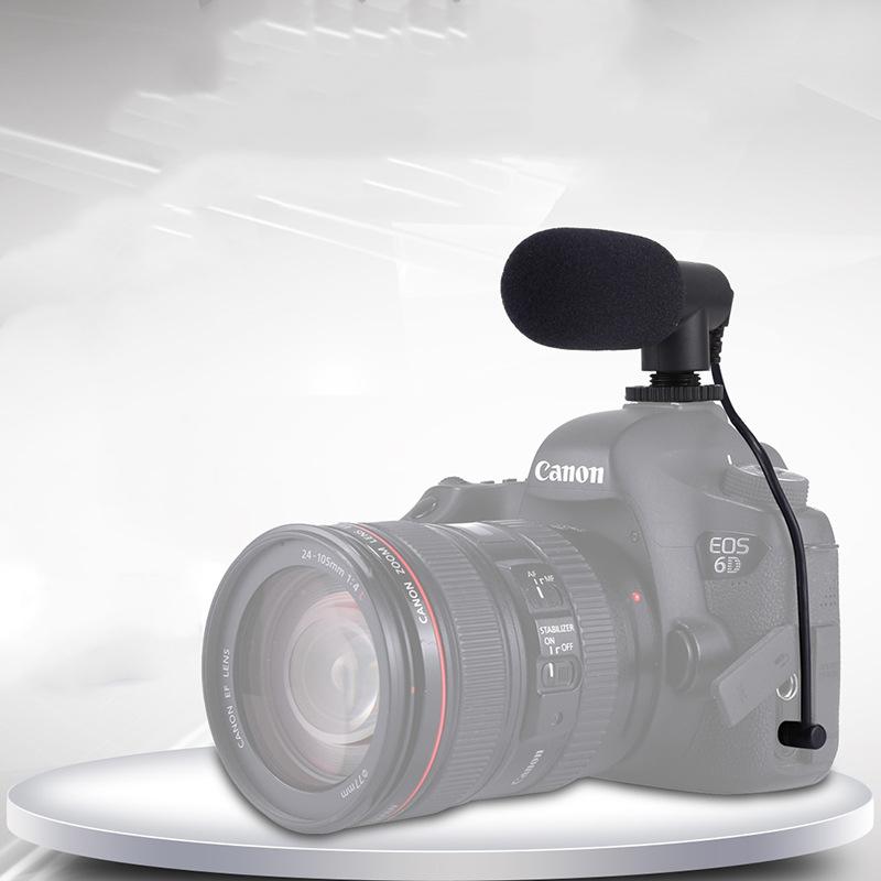 Microphone Professionnel d'enregistrement vidéo 3.5mm
