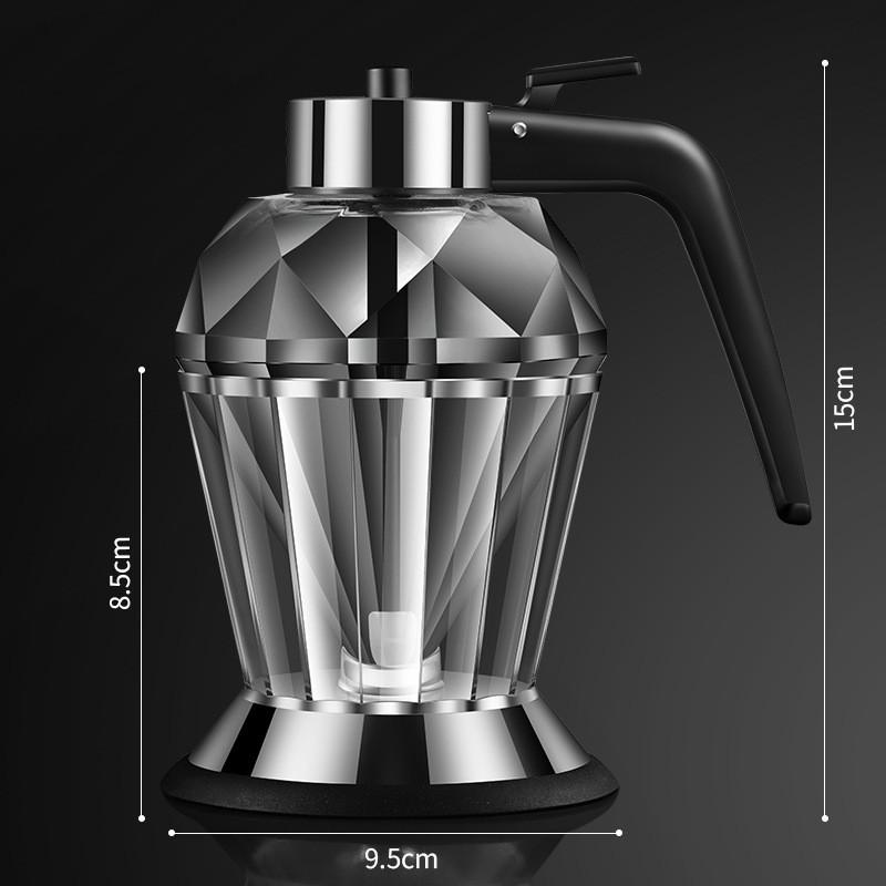 Oil Dispenser Diamond Shaped Glass Oil Bottle Kitchen Push Design Seasoning Bottle