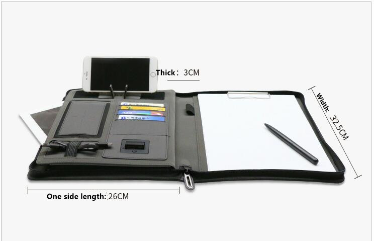 Business Document Holder With Power Bank 1