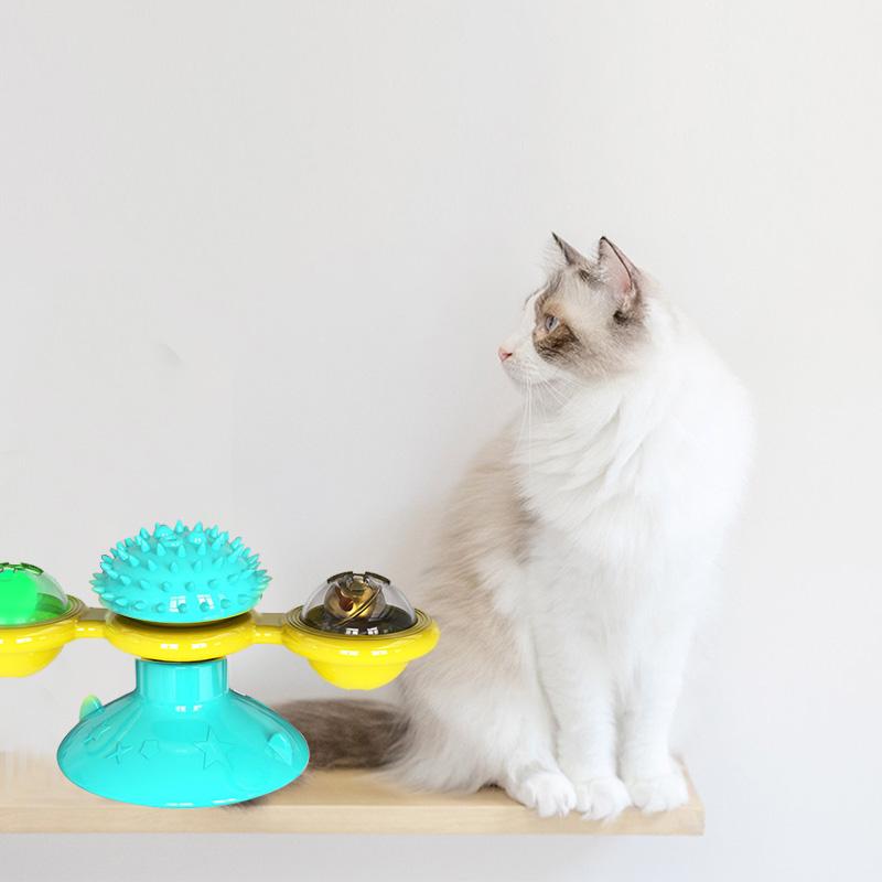 Jouet moulin à vent pour chat - lumineux
