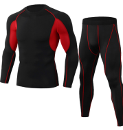 Compression Running jogging Suits Clothes Sports Set Long t shirt And Pants Gym Fitness workout Tights clothing