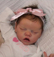17 inches Full Silicone Rayna Reborn Baby Doll Girl Toy
