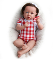 22 inches Little Cute Erica With Brown Hair and Eyes Reborn Baby Doll Girl, Lifelike Realistic Baby Doll Toy