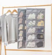 Tas Gantung 30 Pouch Bahan Kain Oxford untuk Organizer Pakaian Dalam Multifungsi
