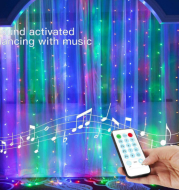 3m LED Fairy Lights Garland Curtain Lamp Remote Control USB String Lights New Year Christmas Decorations for Home Bedroom Window