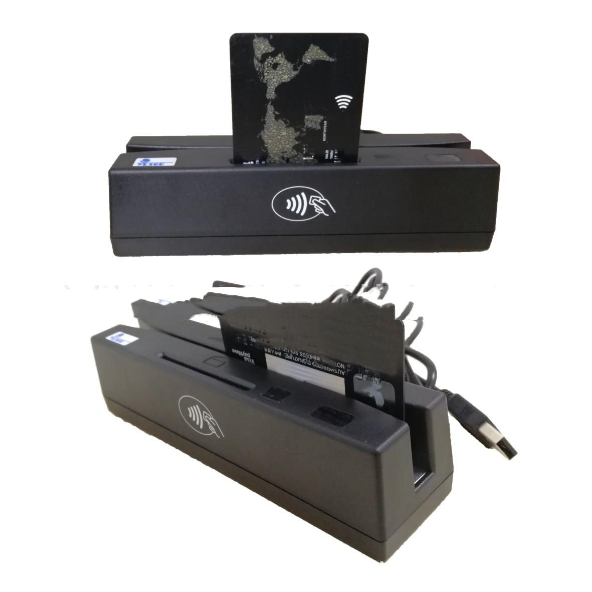 YL160 4-in-1 Magnetic Stripe Credit Card EMV IC Chip RFID PSAM Card Reader Writer Duplicator