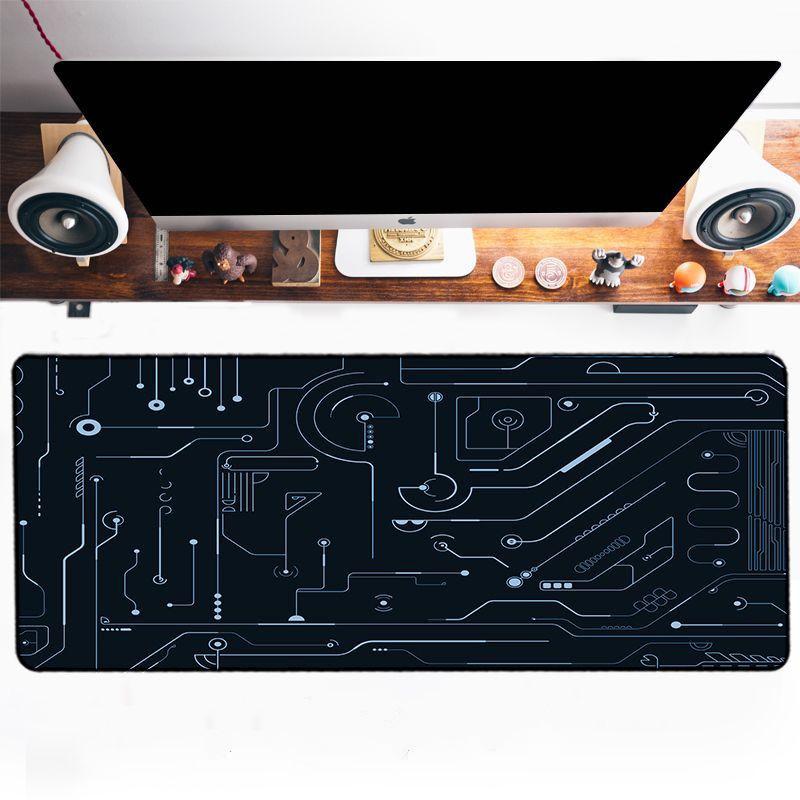 Grand tapis de souris XXXL – Circuits imprimés couleur argent ou marron