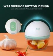 Electric Mini Food Garlic Crusher Vegetable Chopper Grinder 160ml Press Masher For Nut Meat Fruit Onion Multi-function Processor