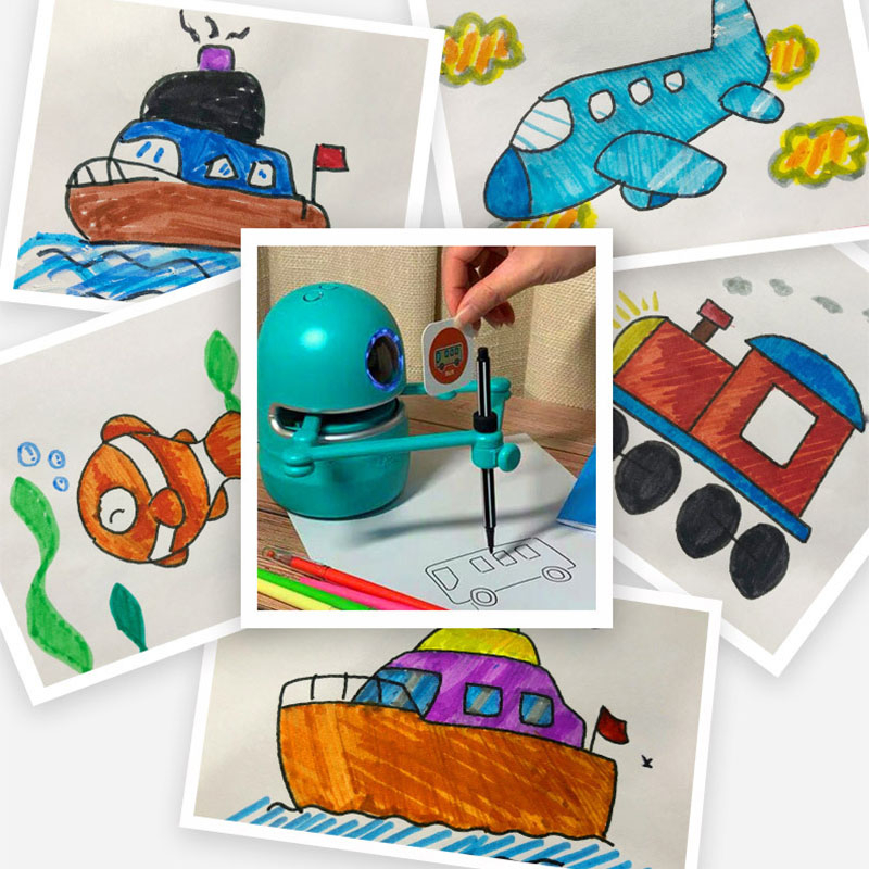 Flash Card Drawing Robot For Kids 3
