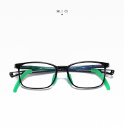 Children anti-blue glasses TR5109 boys and girls two-color frame flat mirrors with non-slip foot sleeves adjustable