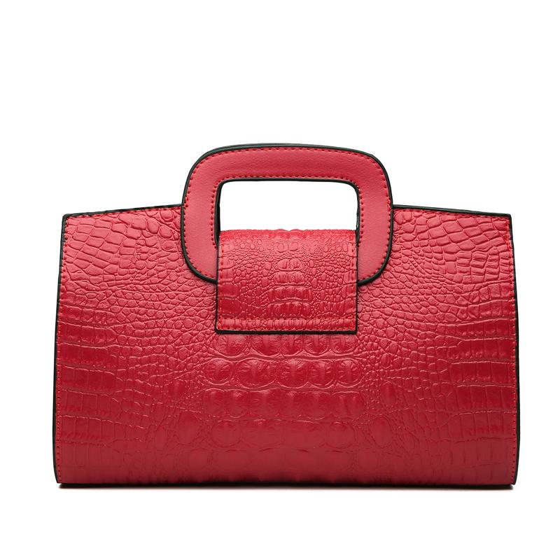 Crocodile Faux Leather Handbag 18