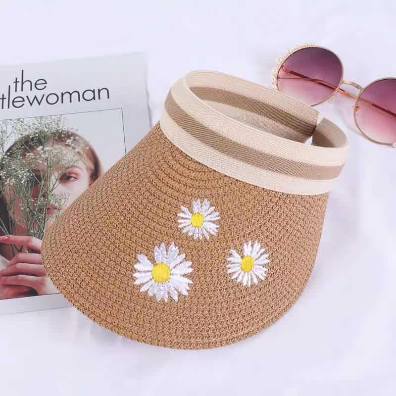 Chapeau de paille chrysanthème 6