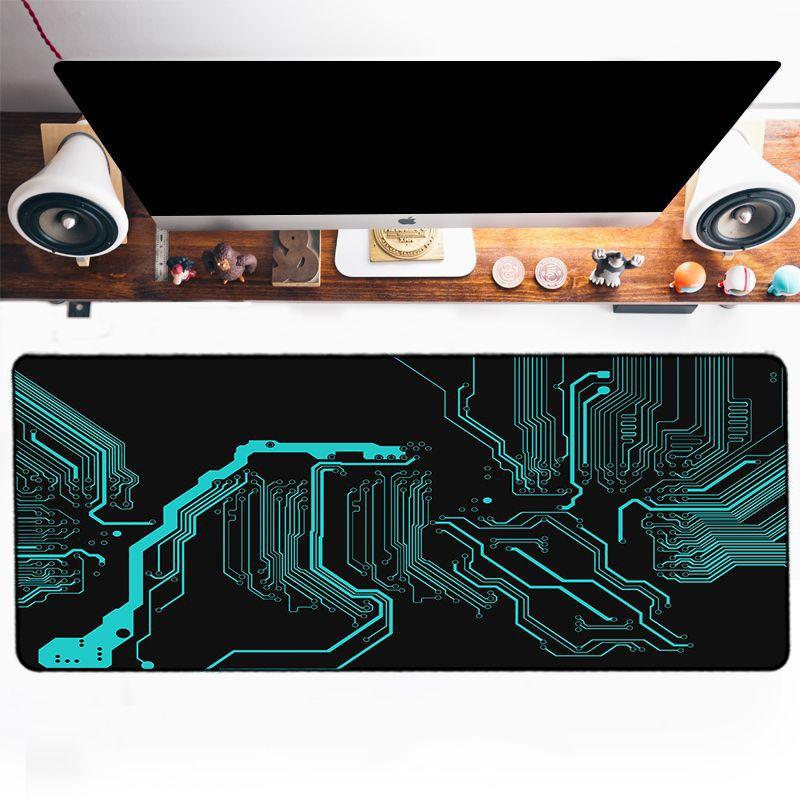Grand tapis de souris XXXL - Circuits imprimés couleur vert