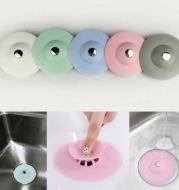 Tutup Saringan Saluran Pembuangan Kitchen Push Deodorant Seal Bouncing Silicone Floor