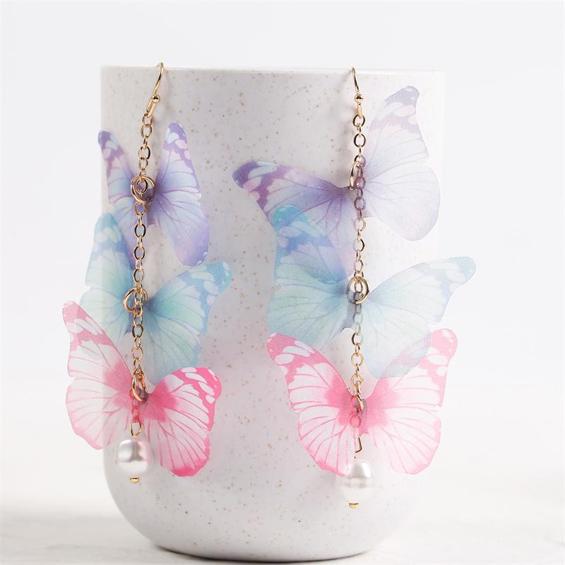 Long Butterfly Earrings