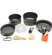 New Outdoor Camping Pan Backpacking Camping Cookware Mess Kit Hiking Cooking Picnic Bowl Pot Pan Sets