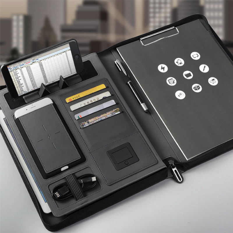 Business Document Holder With Power Bank 4