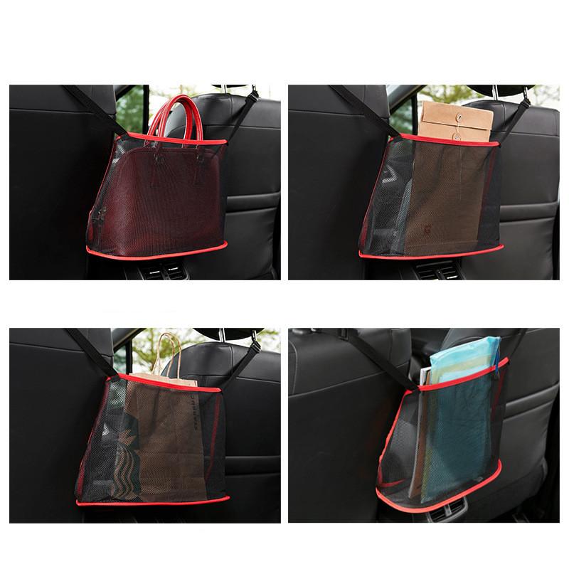 Car Net Pocket Handbag Holder Car Seat Storage allinonehere.com