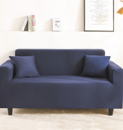 Solid Color Sofa Cover L shaped Sofa multisize seat Elastic Stretch Cover