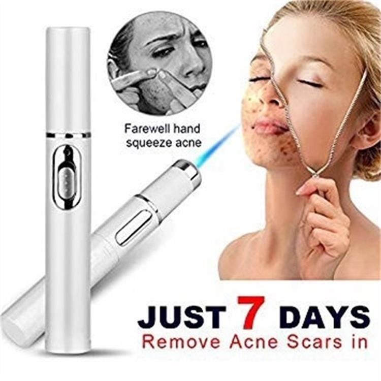 Instructions for use portable beauty pen for removing acne, scar, wrinkle, skin blemish, pimples, swelling zits, redness, inflammation