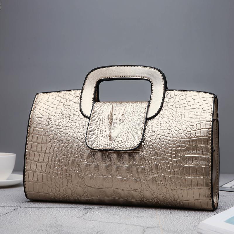 Crocodile Faux Leather Handbag 25