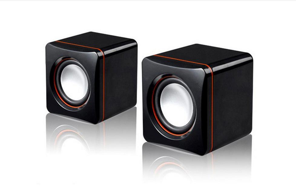 Wired USB Mini-Speaker For Notebook & Desktop Computer
