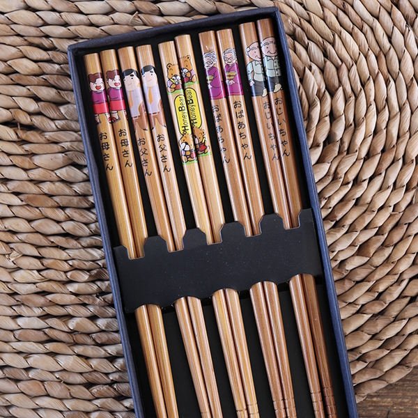Palillos de bambú diseño Happy family