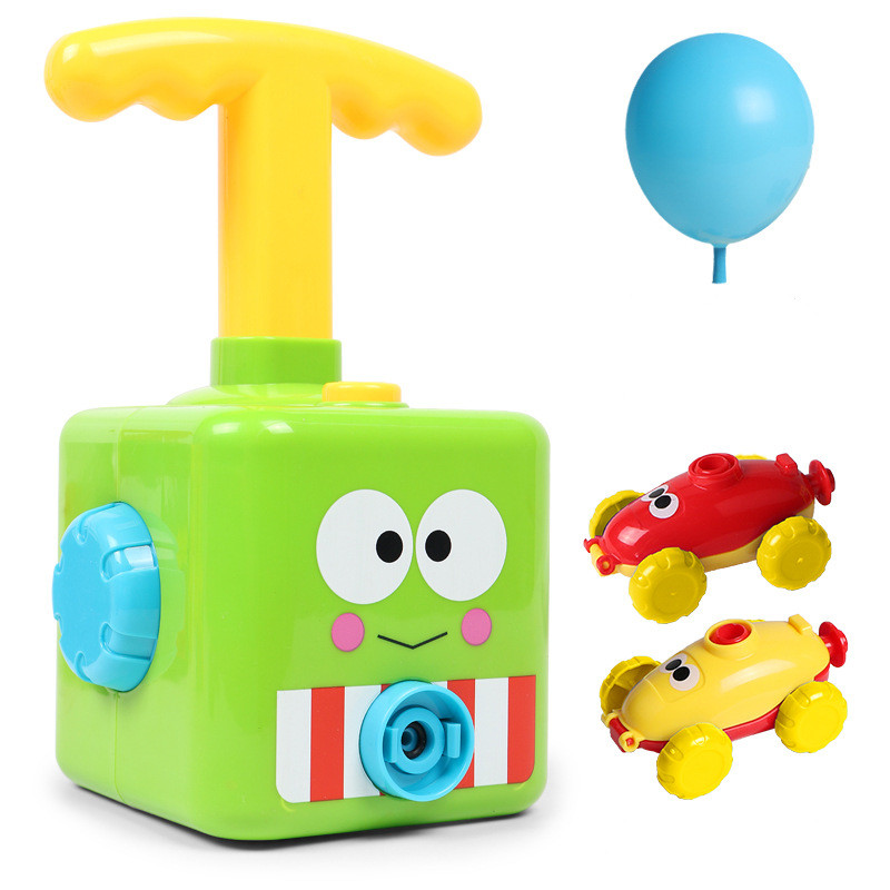Balloon Launcher & Powered Car Toy Set Aerodynamic Cars Racers Party Supplies Preschool Educational Science Stem Toys with Manual Pump for