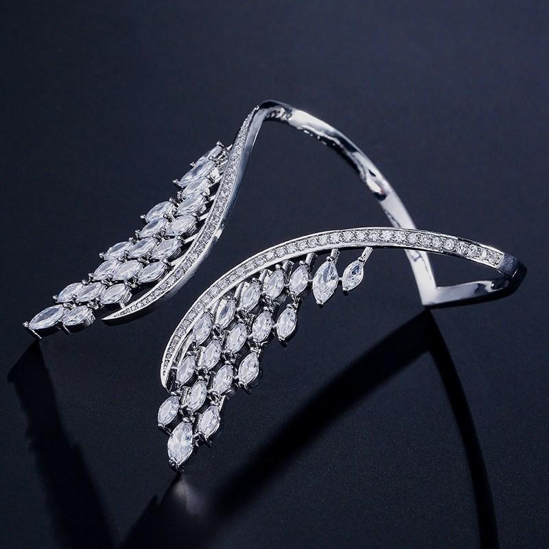 bracelet aile d'ange argenté