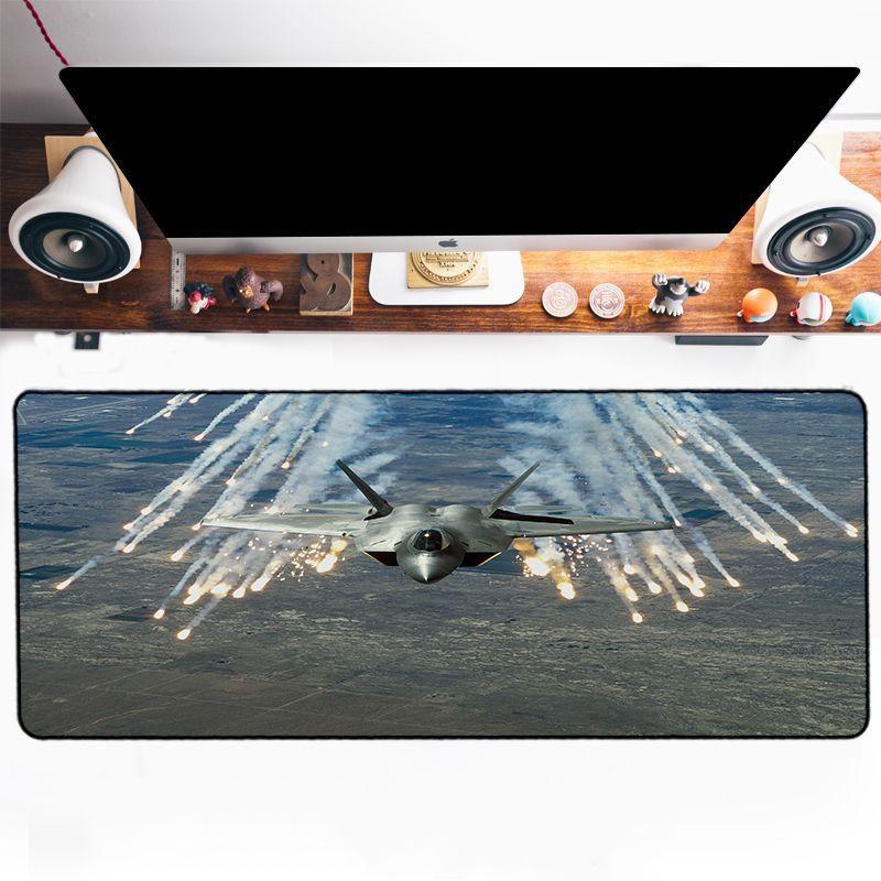 Tapis de souris avion de combat missiles