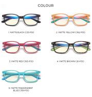 Fashion children blue light glasses for boys and girls flat mirror 5104