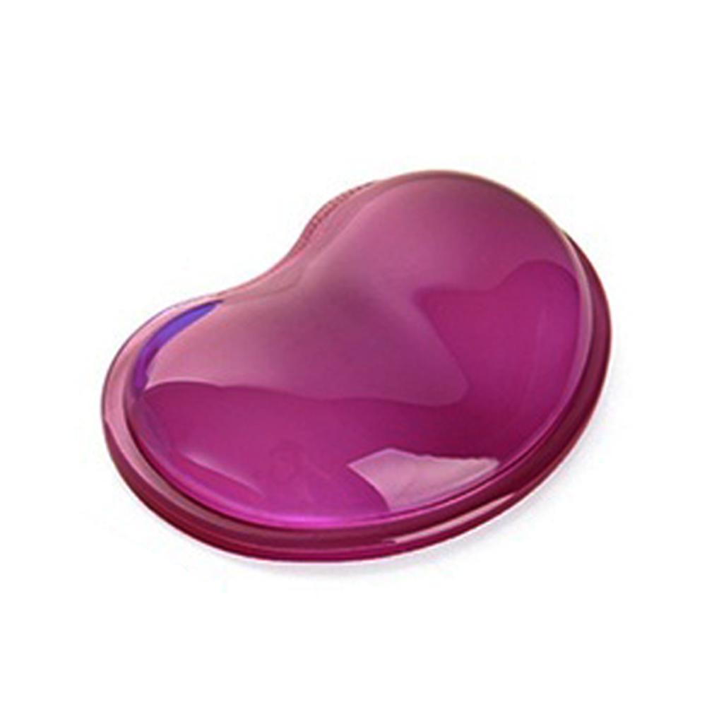 Repose poignet en silicone transparent cœur