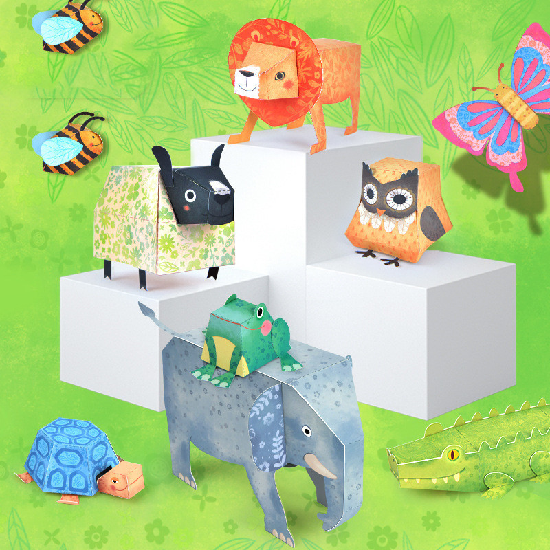 Libro manualidades origami 9 animales 3D