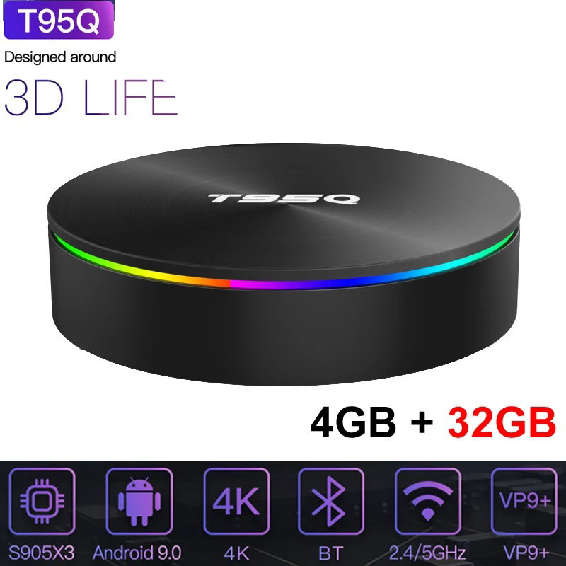 Sunvell T95Q Amlogic S905X3 Smart Tv Box Android 9.0 Network