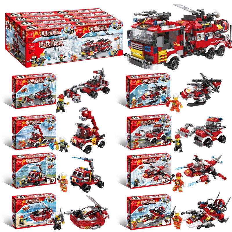 City Fire Fighting Model Building Blocks Educational Toys (810pcs)
