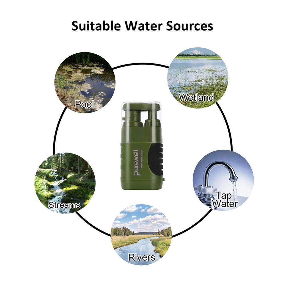 Purewell Multistage Outdoor Water Purifier for Emergency Camping Wilderness Survival Fashion outdoor pumping filter