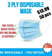50 pcs Disposable Face Mask CE Certified
