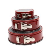 4inch 7inch 9inch New 3pcs High Carbon Steel Pans Set Cake Mould Tins Round Cake Pan Set Non Stick Leakproof