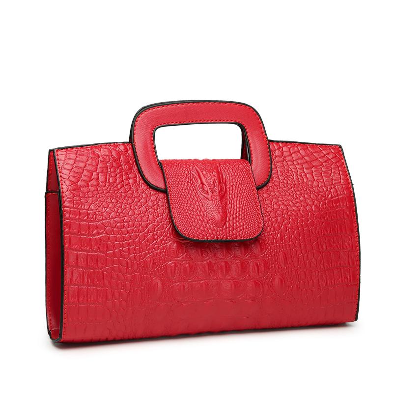 Crocodile Faux Leather Handbag 22