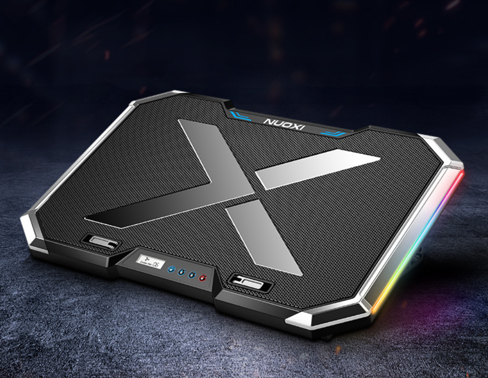NUOXI Q8 Notebook Cooling Base six core with RGB lighting effects