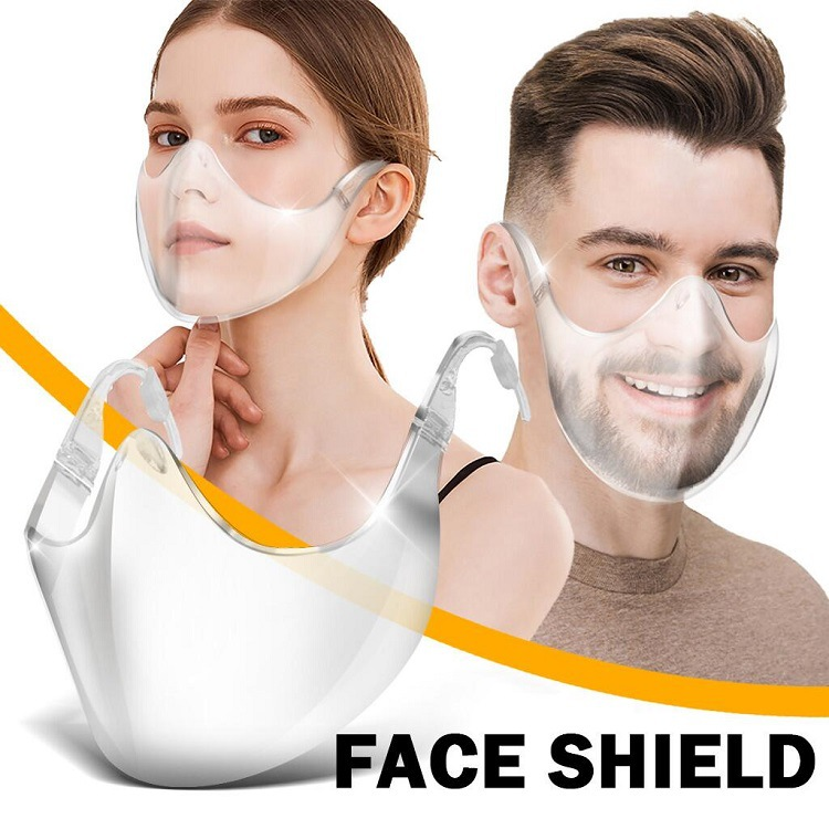 Foldable Transparent Reusable Clear Breathable Earloops Cycling Mask Face Shield