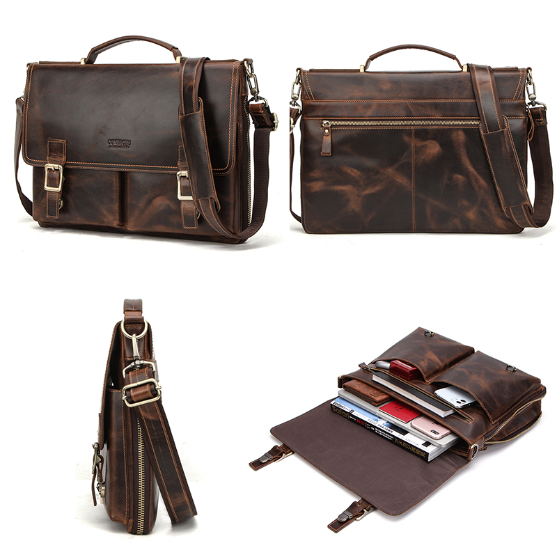 Leather Mens Business Briefcase 7