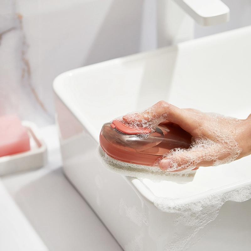 sponge with handle for dishwashing