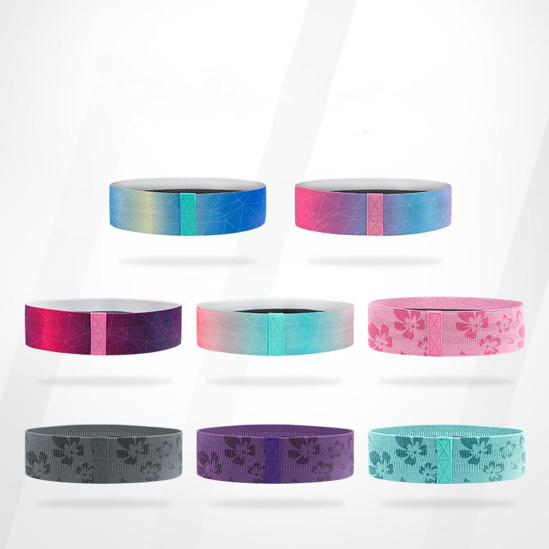 plusieurs couleurs et dessins sont disponibles pour les mini bandes de résistance non-glissantes
