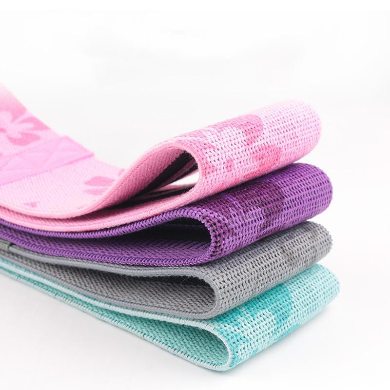 les mini bandes de résistance anti-glisses ont plusieurs couleurs disponibles