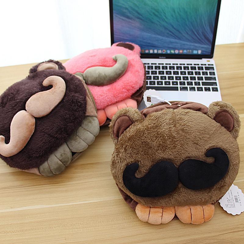 tapis de souris chauffant USB tête à moustache